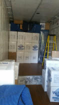 Watford Moving boxes stacked in moving truck