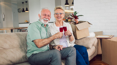 Happy Couple After Interstate Move